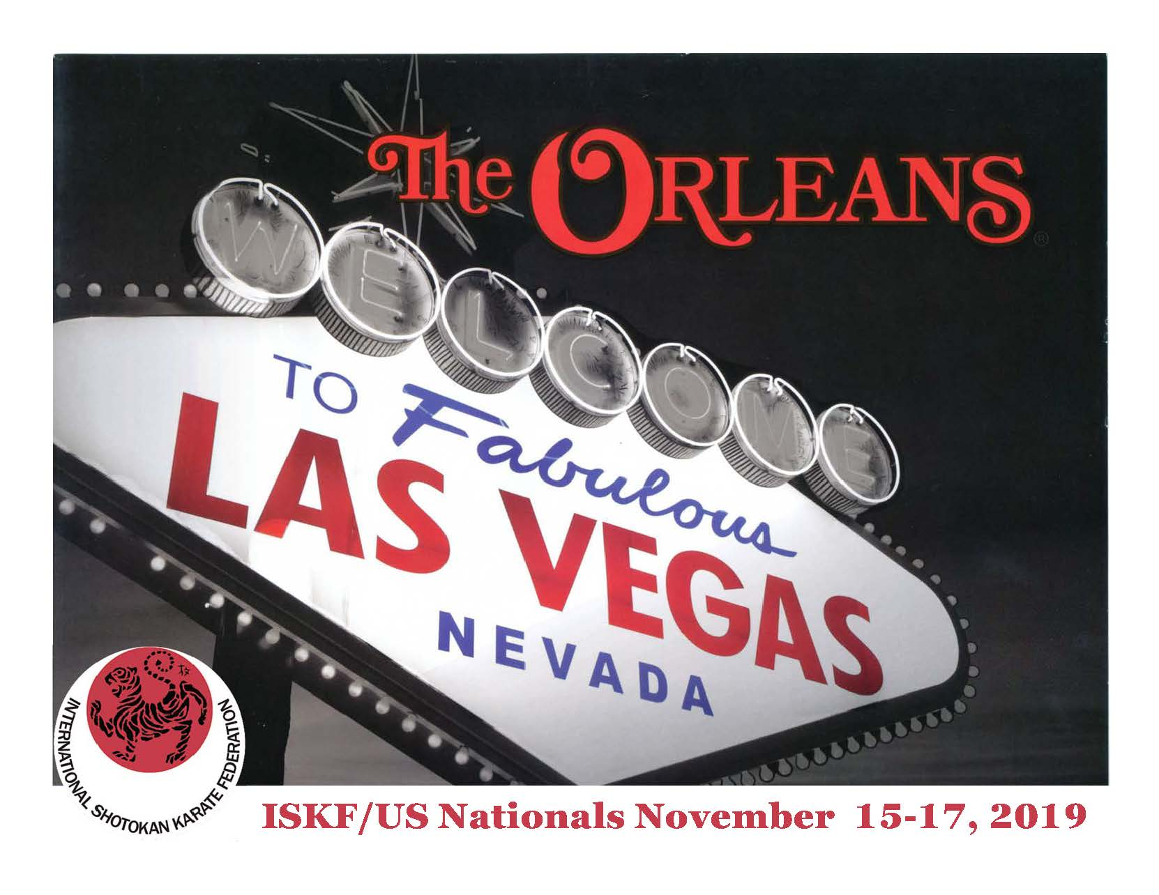 41st Annual ISKF/US National Championships @ Las Vegas, NV, November 15-17, 2019