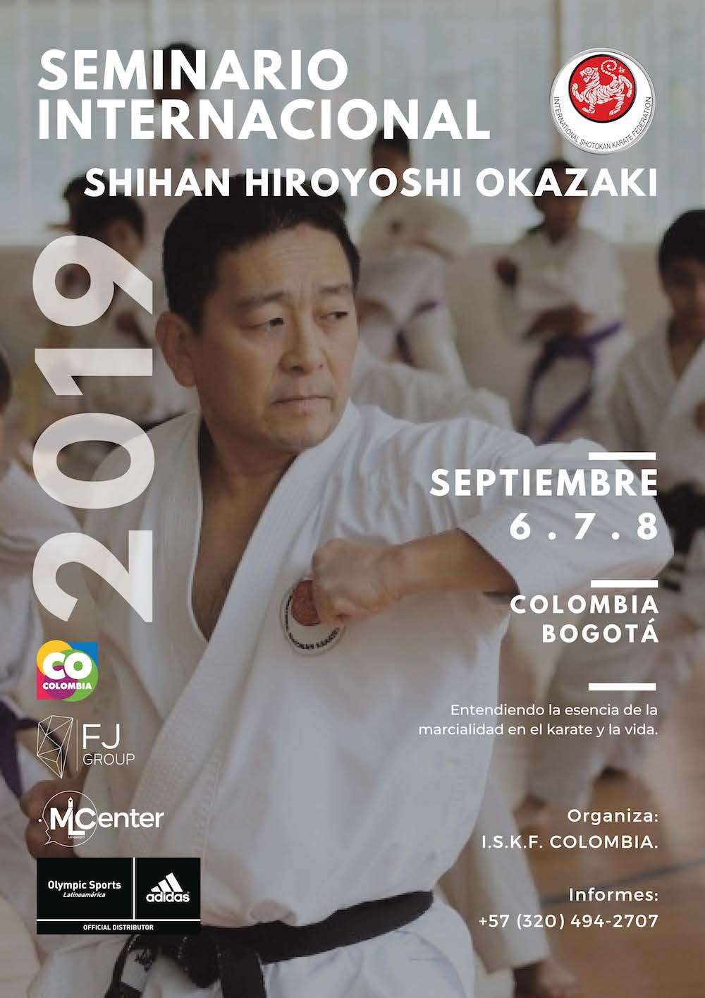 International Seminar with Shihan Hiroyoshi Okazaki @ BOGOTA, COLOMBIA, September 6-8, 2019