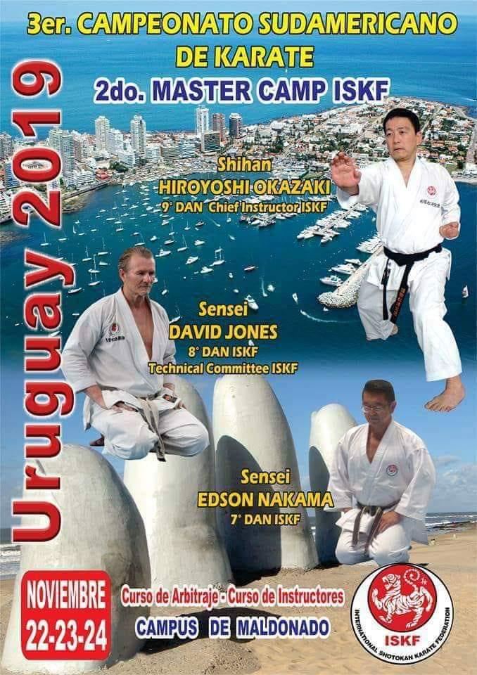 3rd South American Championships with Shihan Hiroyoshi Okazaki, Sensei David Jones, Sensei Edson Nakama @ URUGUAY, November 22-24, 2019.