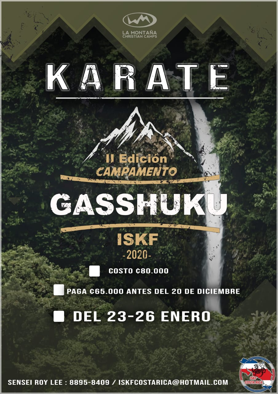 2020 ISKF Costa Rica 2nd edition Gasshuku, January 23- 26, 2020