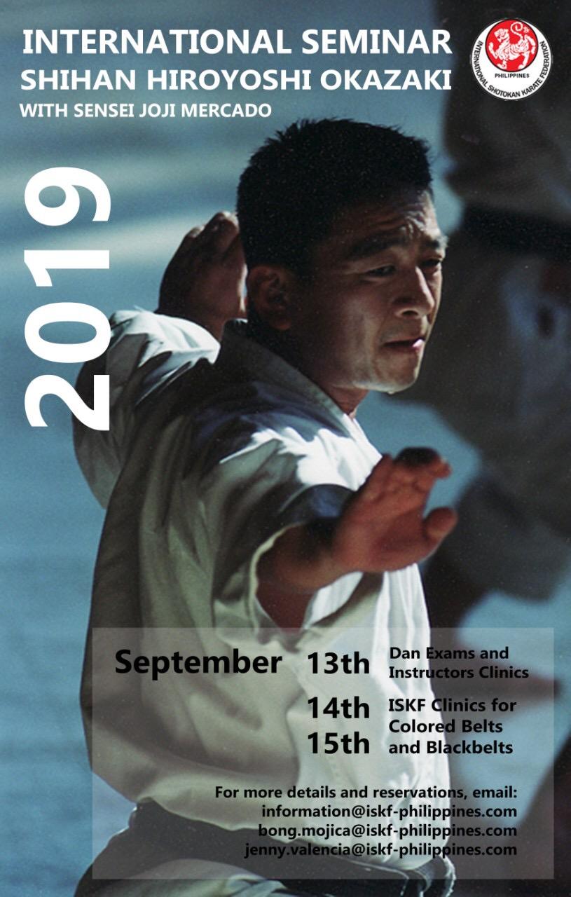 International Seminar - Shihan Hiroyoshi Okazaki with Sensei Joji Mercado - September 13-15, 2019