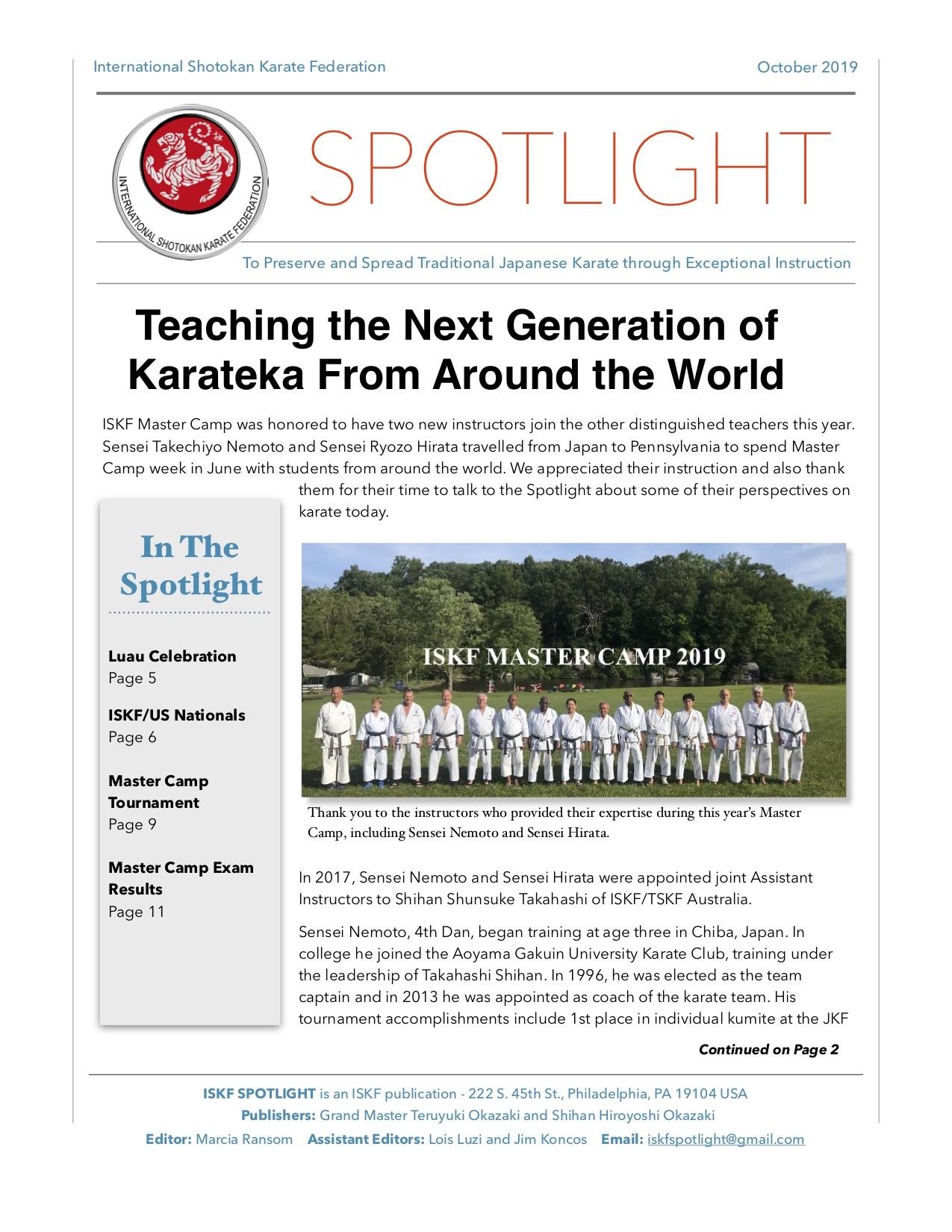 ISKF Spotlight Oct 2019 V3 JPG